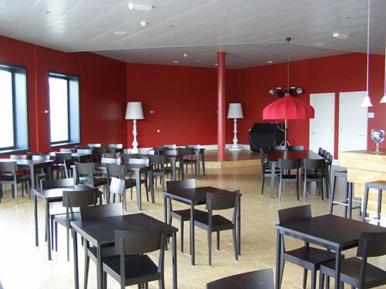 Het nieuwe Cool Theater dat in september 2008 werd geopend. Boven de hoofdingang en onder het Cool Café waar de jazzmiddagen werden gehouden (en soms ook de clubavond)