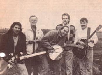 Setpoint met 2e van links Sip de Jong en uiterst rechts Frank Bakker (januari 1992)
